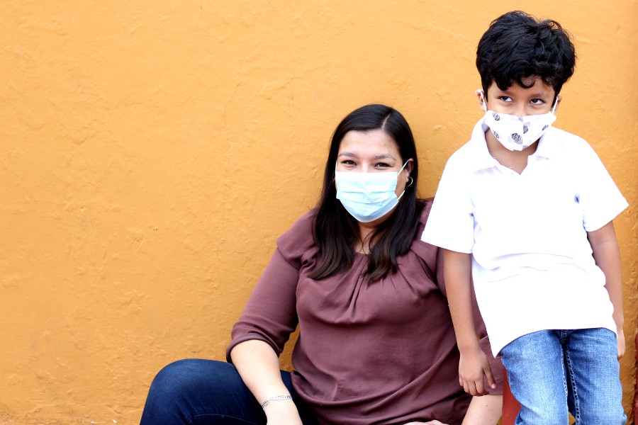Woman-and-Child-with-Masks